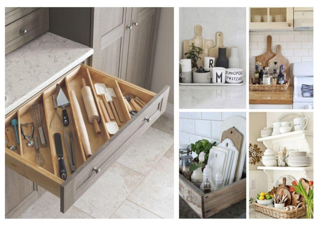 Organizzare la cucina le basi arreda con sara - Utensili di cucina ...