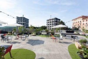 Area esterna dello spazio coworking Talent Garden di Milano