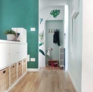 Porta il verde in casa colorando le pareti