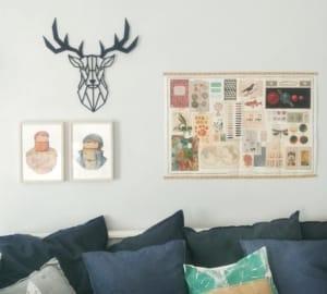 wall decoration in stile scandinavo