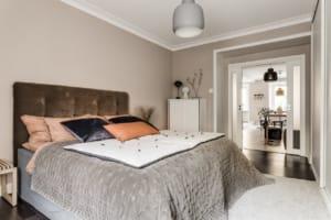 Interior design per una camera da letto dallo stile nordico
