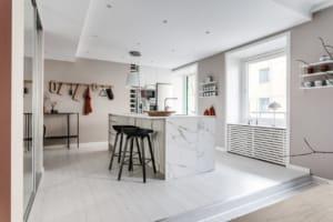 Cucina di un appartamento in Svezia