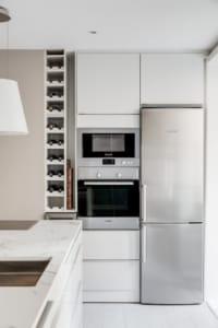 La cucina di un appartamento in stile nordico