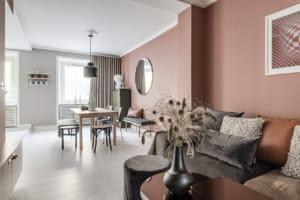 Gli spazi interni di un appartamento in svezia