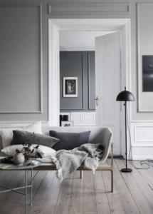 Grigio e bianco per gli interni di casa
